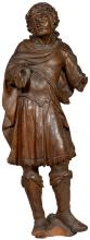Large European Oak Figure from a Christian Processional Scene