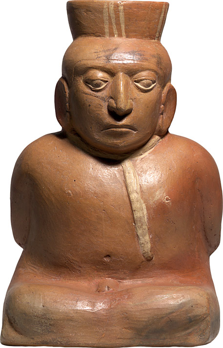 Pre-Columbian Moche Terracotta Seated Prisoner