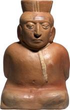Pre-Columbian Moche Terracotta Seated Prisoner