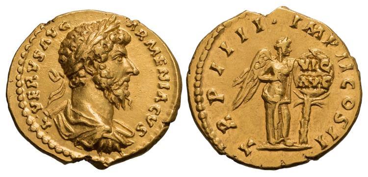 Lucius Verus Gold Aureus; 161-169 AD