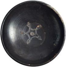 Magna Graecia Footed Bowl with Palmette Decorartion ca. 4th Century BC