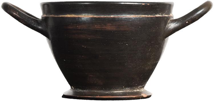 Attic Blackware Skyphos ca. 500 BC