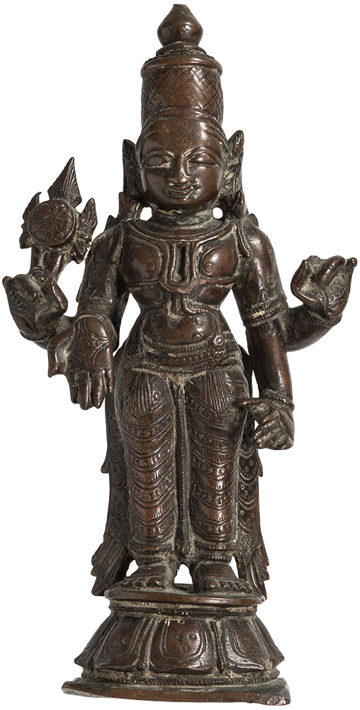 South Indian Bronze Vishnu ca. 17th to 18th Century AD