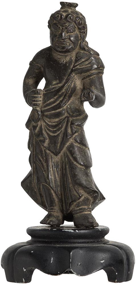 Japanese Edo Bronze Fudo Middle Edo Period ca 17th or 18th Century