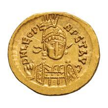 Leo I; 457-474 AD  Solidus  Constantinople  c. 457-73 AD  4.360. MS.
