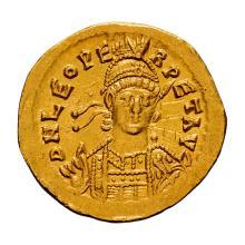 Leo I; 457-474 AD  Solidus  Constantinople  457-c. 468 AD  4.420. MS.