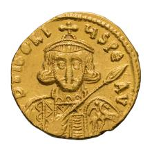 Tiberius III; Solidus  Constantinople  4.420. EF.