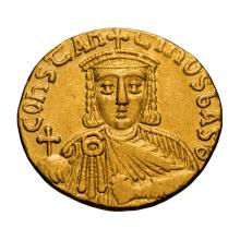 Constantine VI and Irene; Solidus  Constantinople  c. 792-7 AD  4.460. MS.