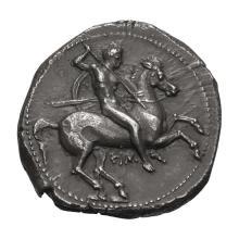 Calabria  Tarentum; AR Nomos  302-290 BC  7.840. EF.
