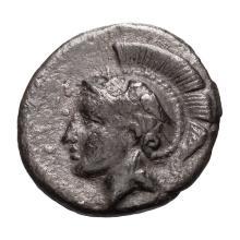Calabria  Tarentum; Alexandria Diobol  c. 380-334 BC VF.