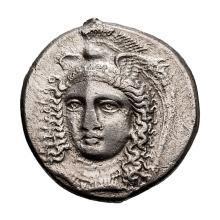 Lucania  Velia; Didrachm  330 BC  7.130. EF.