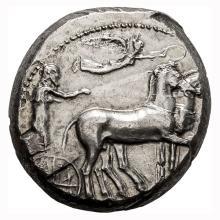 Sicily  Syracuse; Tetradrachm  430-420 BC  17.200. EF.