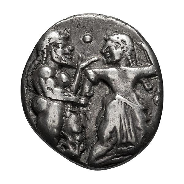 Emathian District  Lete or Siris; Stater  c. 520-500 BC  9.890. EF.