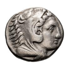 Macedonia  Alexander III The Great; Tetradrachm  336-323 BC  Macedonia  336-323 BC  17.080. VF.
