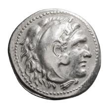 Macedonia  Alexander III The Great; Tetradrachm  336-323 BC. Uncertain of Pamphylia  c. 220-180 BC  16.550. EF.