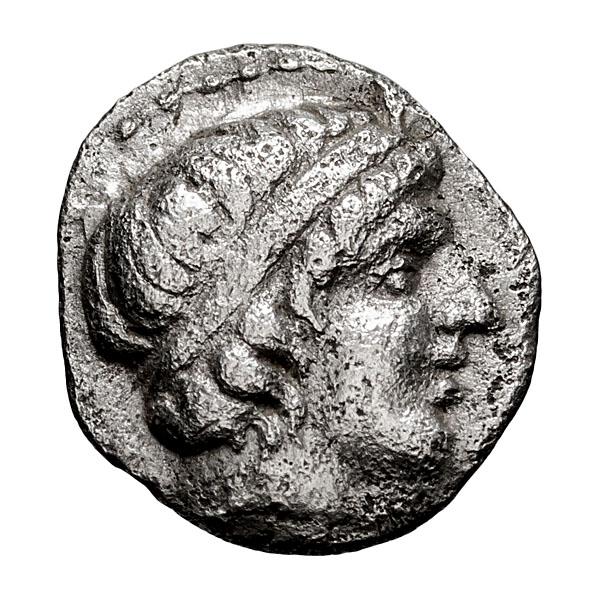 Macedonia  Amphipolis; 1/8 Obol  400 BC  0.440. VF.