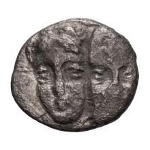 Danubian District  Istrus; 1/4 Drachm  Scarce Denomination  4th century BC  1.090. F.
