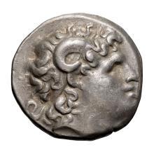 Thrace  Lysimachus; Tetradrachm  297-282 BC  16.980. VF.
