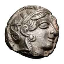 Attica  Athens; Tetradrachm  c. 425 BC  17.150. EF.
