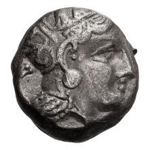 Attica  Athens; Tetradrachm  393-300 BC  16.850. VF.