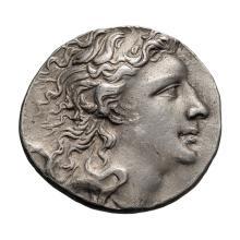 Pontic  Mithradates VI; Tetradrachm  120-36 BC. Year 224= 74/73 BC  16.670. MS.