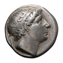 Seleucid  Antiochus I Soter; Tetradrachm  281-261 BC  Seleucia on the Tigris  16.730. VF.
