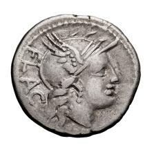 L. Rutilius Flaccus; 77 BC  Denarius  3.690. VF.