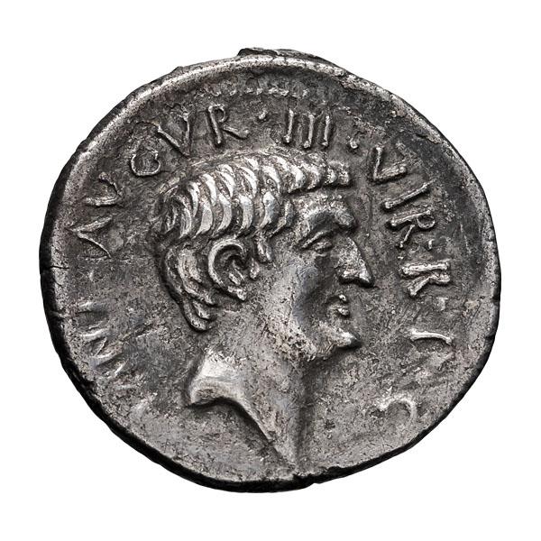 Mark Antony; Denarius  37 BC  3.790. VF.