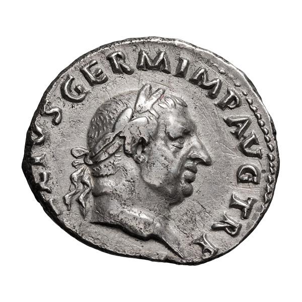 Vitellius; 69 AD  Denarius  Rome  3.080. EF.