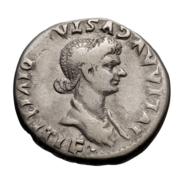 Julia Titi  daughter of Titus; Cistophoric Tetradrachm  Possibly Rome Mint for circulation in Asia  82 AD  10.530. VF.