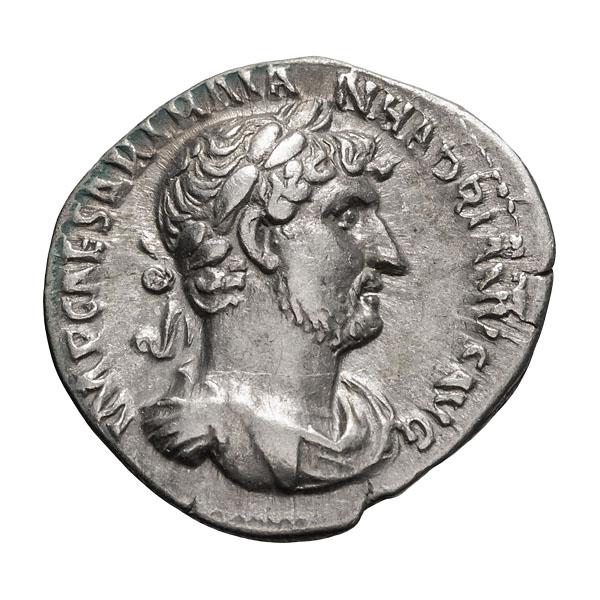 Hadrian; 117-138 AD Denarius Rome c. 120-2 AD 3.160. EF.
