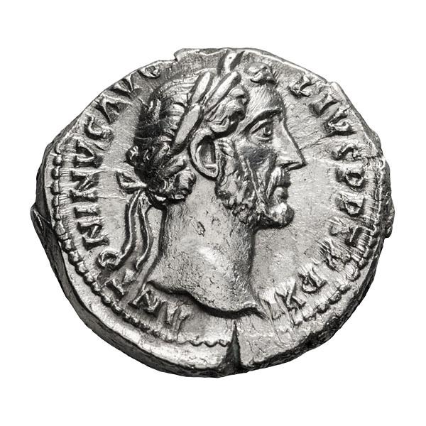 Antoninus Pius; 138-161 AD Denarius Rome 148-9 AD 3.030. MS.
