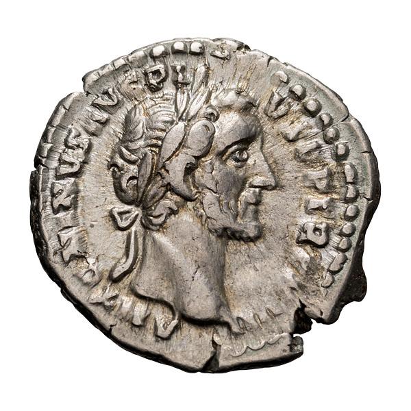 Antoninus Pius; 138-161  AD  Denarius  Rome  154 AD  3.040. VF.