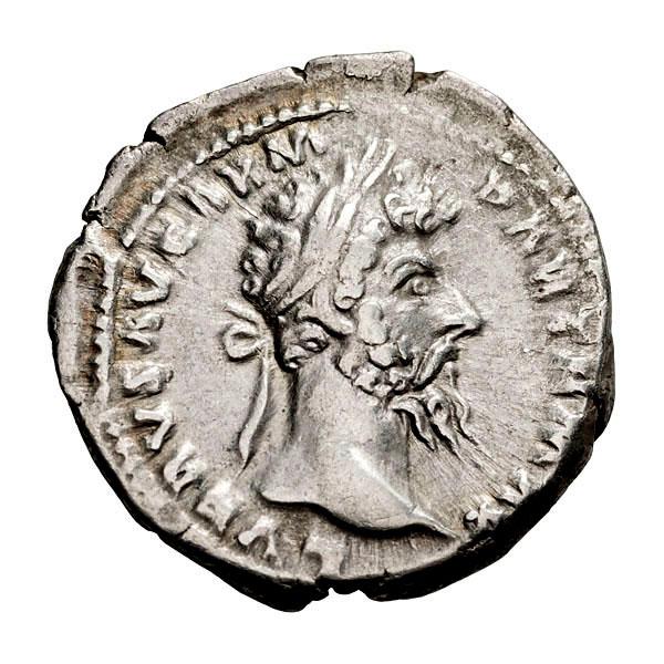 Lucius Verus; 161-169 AD Denarius Rome 168 AD 3.410. VF.