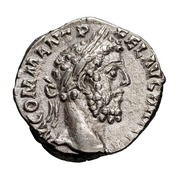 Commodus; 177-192 AD  Denarius  Rome  189 AD  3.150. EF.