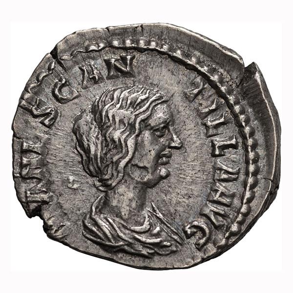 Manlia Scantilla; Denarius Rome 193 AD 3.450. EF.