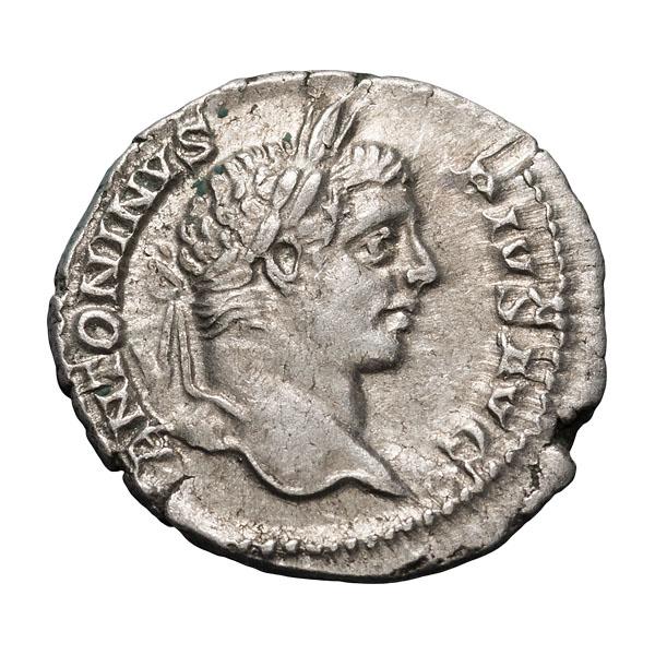 Caracalla; 198-217 AD  Denarius  Rome  206 AD  3.470. EF.