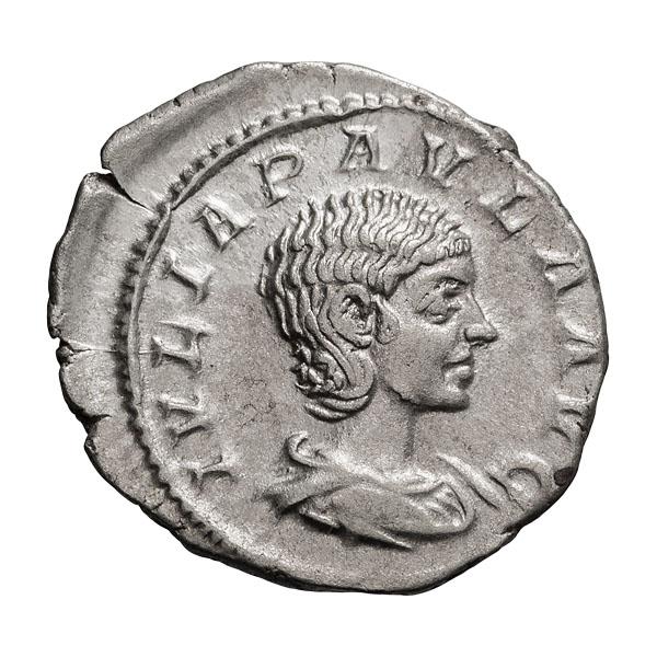 Julia Paula; Denarius  Rome  220 AD  3.100. MS.
