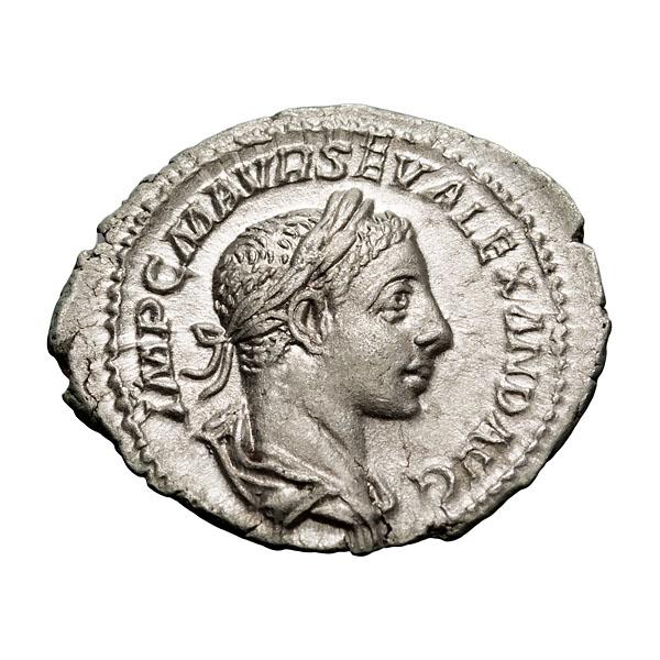 Severus Alexander; 222-235 AD  Denarius  Rome  224 AD  2.490. MS.