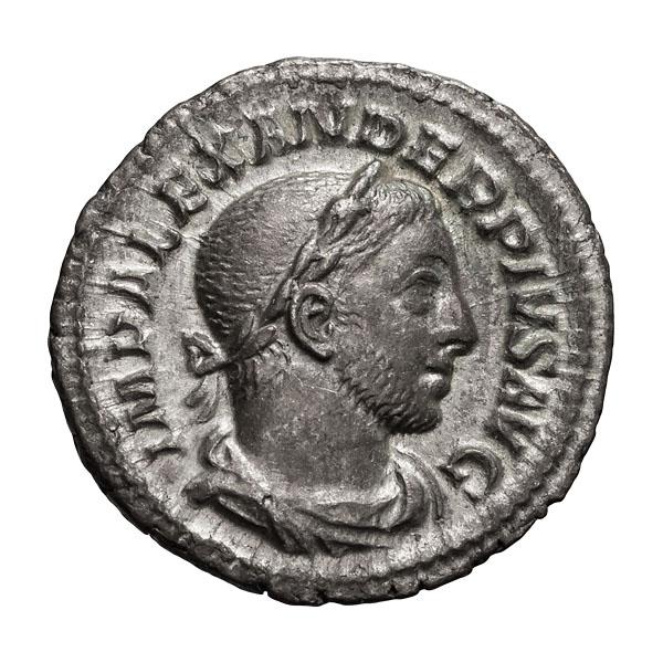 Severus Alexander; 222-235 AD  Denarius  Rome  232-5 AD  2.660. EF.