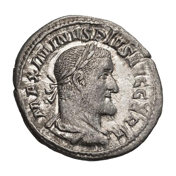 Maximinus I Thrax; 235-238 AD  Denarius  Rome  236-238 AD  2.480. EF.