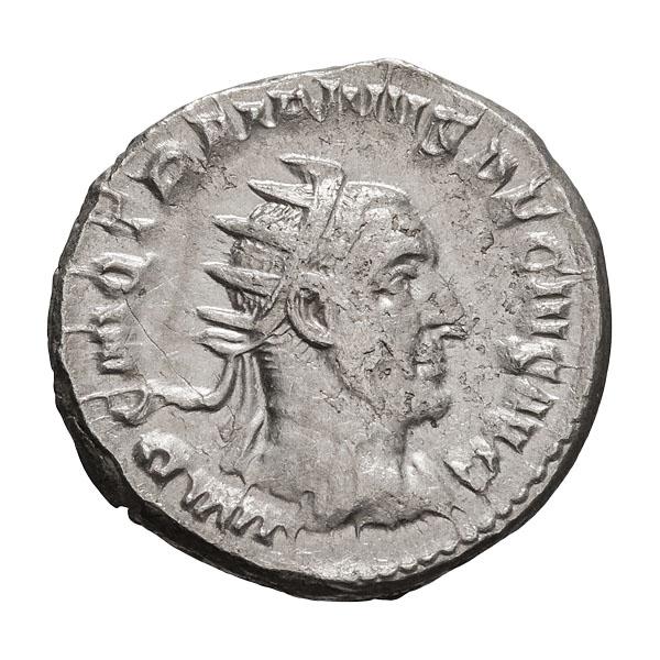 Trajan Decius; 249-251 AD  Antoninianus  Rome  4.370. VF.