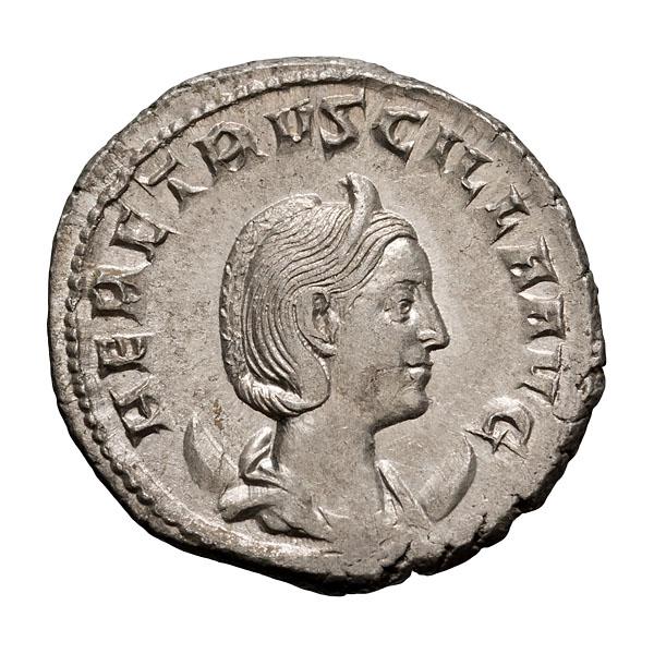 Herennia Etruscilla; Antoninianus Rome 4.050. MS.