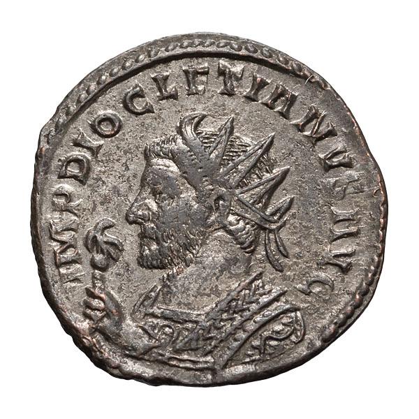 Diocletian; 284-305 AD  Antoninianus  Lugdunum  290-1 AD  3.750. MS.