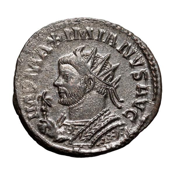 Maximianus; 286-305 AD Antoninianus Lugdunum 290-1 AD 3.850. MS.