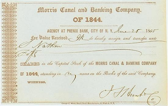 Morris Canal and Banking Company of 1844