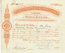 Ottoman Paper Manufacturing Company, Limited