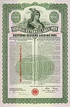 Deutsches Reich - German External Loan 1924 (Dawes-Anleihe)