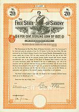Free State of Saxony (Freistaat Sachsen) [6 Stück]