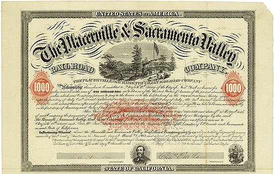 Placerville & Sacramento Valley Rail Road Company